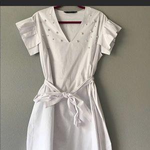 Zara White Sun Dress